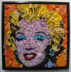 'Orange Marilyn - after Warhol' by Jane Perkins @ Will's Art Warehouse, London