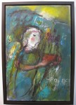 'Angel Bearing Flowers' by Benet Haughton @ Duncan R. Miller Fine Arts [For the Chagall-aesthetic lover in you.]