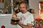 Mr. Baseman with one of the many Emmy Awards statues he's won