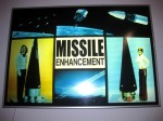 'Missile Enhancement'. 2008. Acetate in lightbox