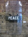 'Peace'. 2011. Spraypaint on police riot shield