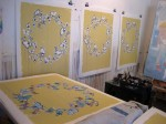 'Butterfly Ring' HPMs (edition of 24): four silkscreened colours, each print subsequently hand-painted with watercolours