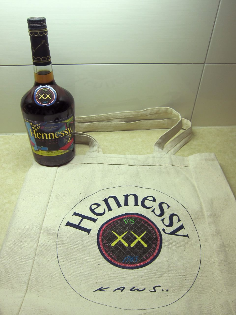 KAWS Hennessy VS Cognac Bottle New Museum AM 23