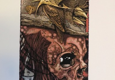 Unannounced Pushead x Aaron Horkey Giclee print released at the event. An edition of 42.