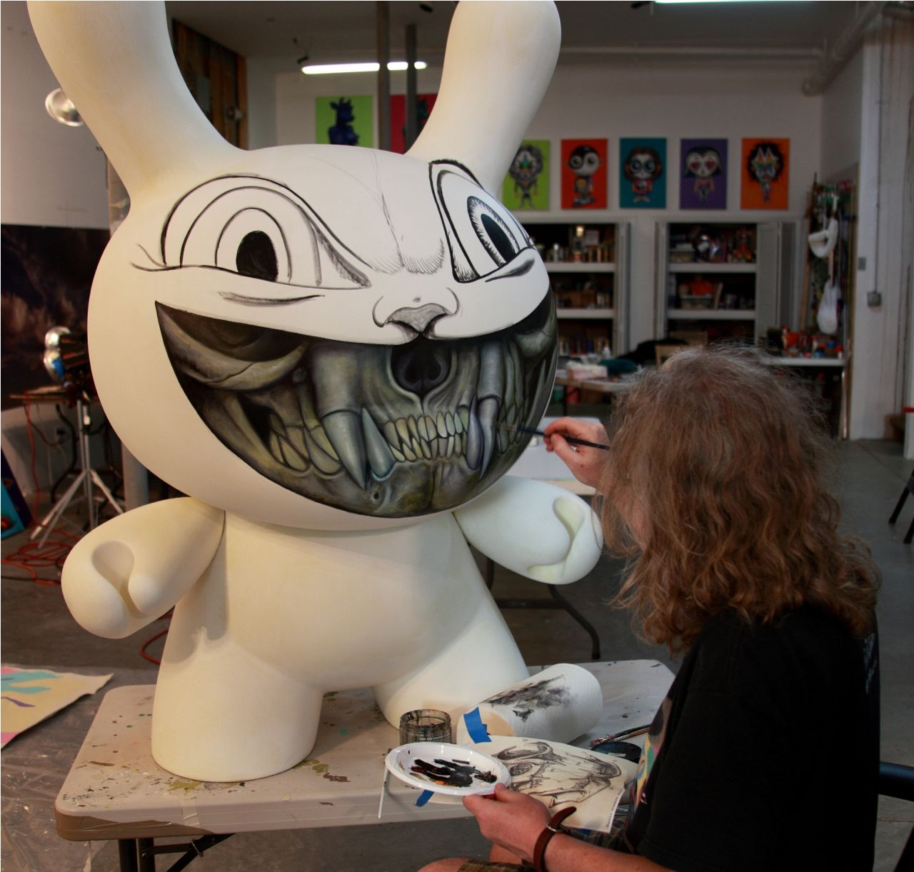 ron painting dunny