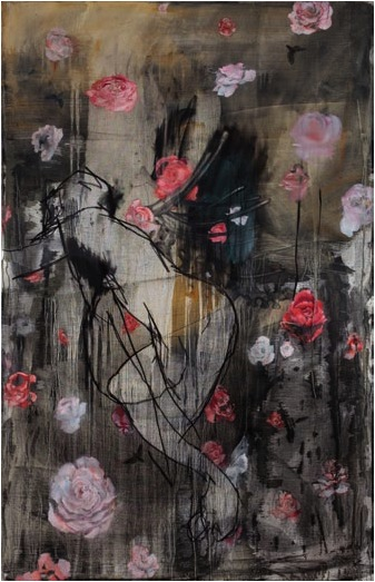 Abduction of Persephone, 140 x 90cm, Oil, Charcoal and Ink on Canvas, £30,000 + VAT