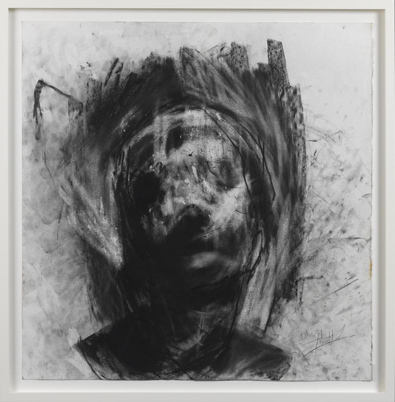 Head 4, 75 x 74 cm, Charcoal on Paper, £7,000 + VAT