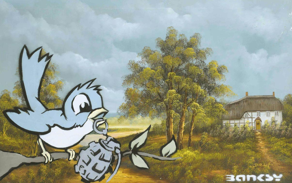 Viewpoints top 25 most expensive banksy works ever for Contemporary mural artists