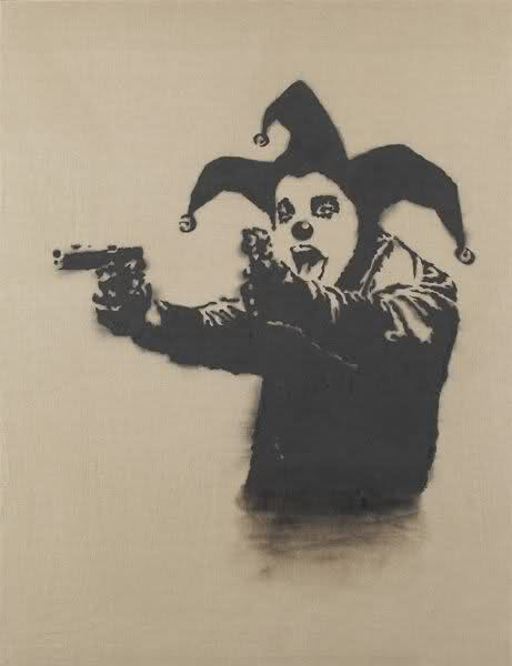 viewpoints top 25 most expensive banksy works ever arrested motion. Black Bedroom Furniture Sets. Home Design Ideas