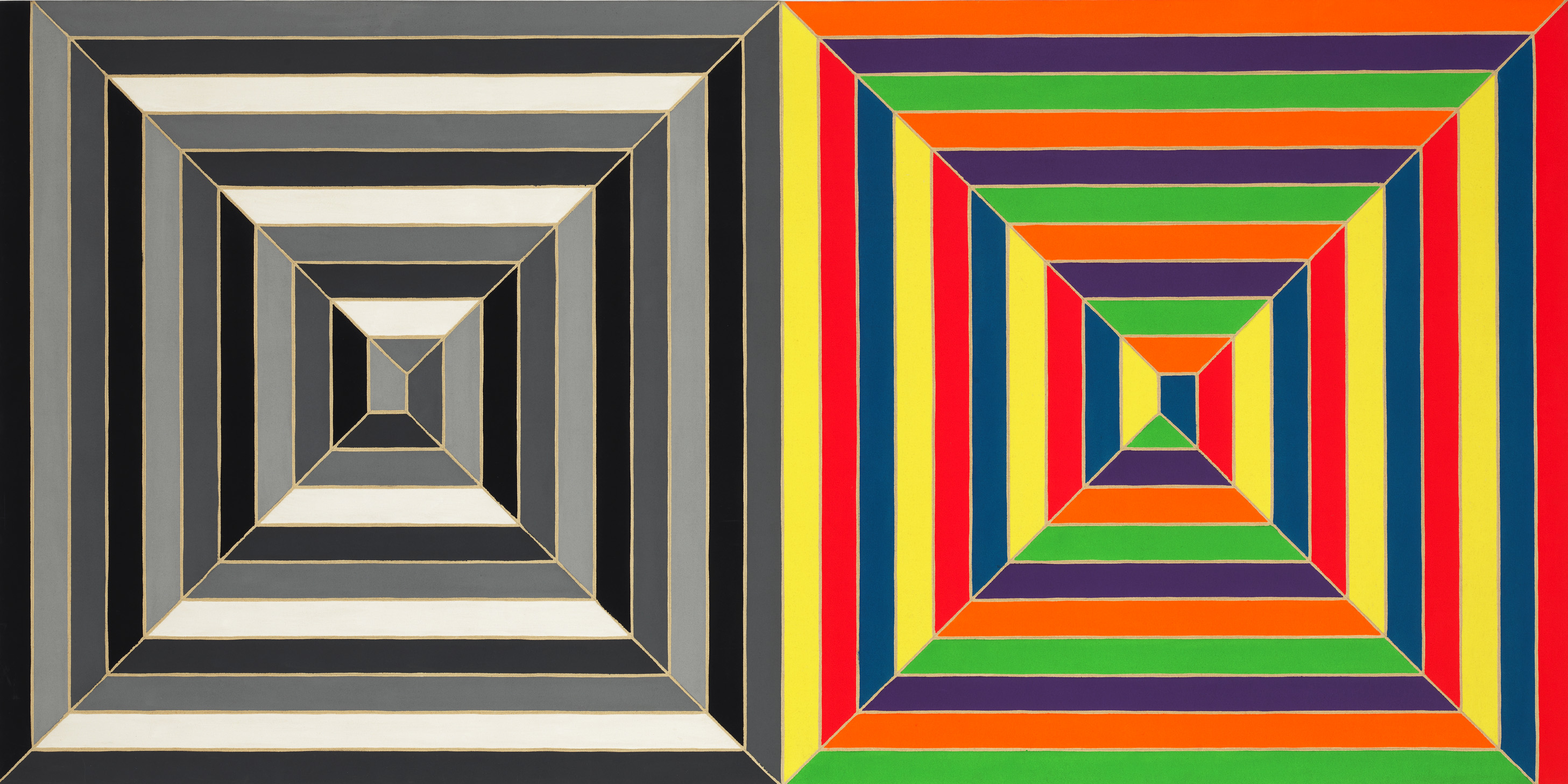 Previews frank stella geometric variations paul for Minimal art opere