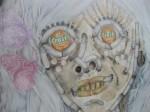 Aurel Schmidt: 'H+ (Trashhumanist Hipster Avatar)' (detail)