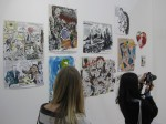 Installation of paintings by Raymond Pettibon. Contemporary Fine Arts, Berlin