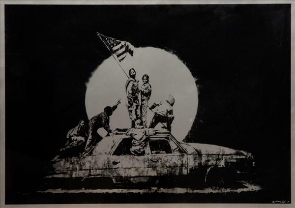dreweatts_oct_banksy_flag_silver