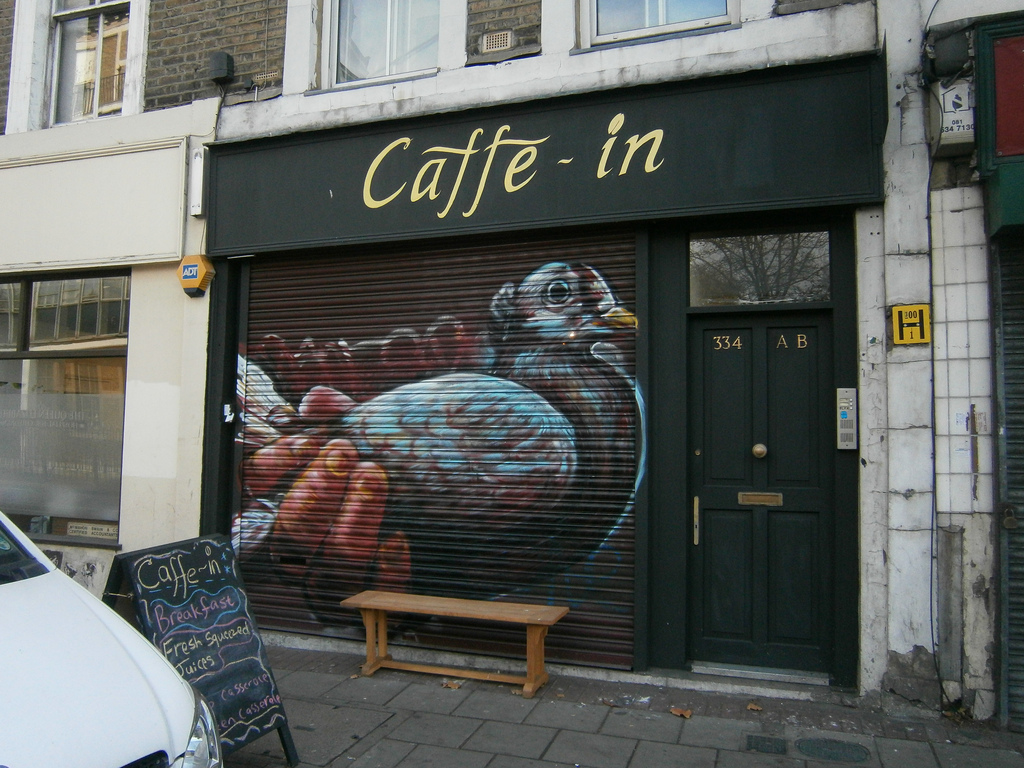 "Gaia - ""Carrier Pidgeon"" in London. Photo by Aaron Wojack."