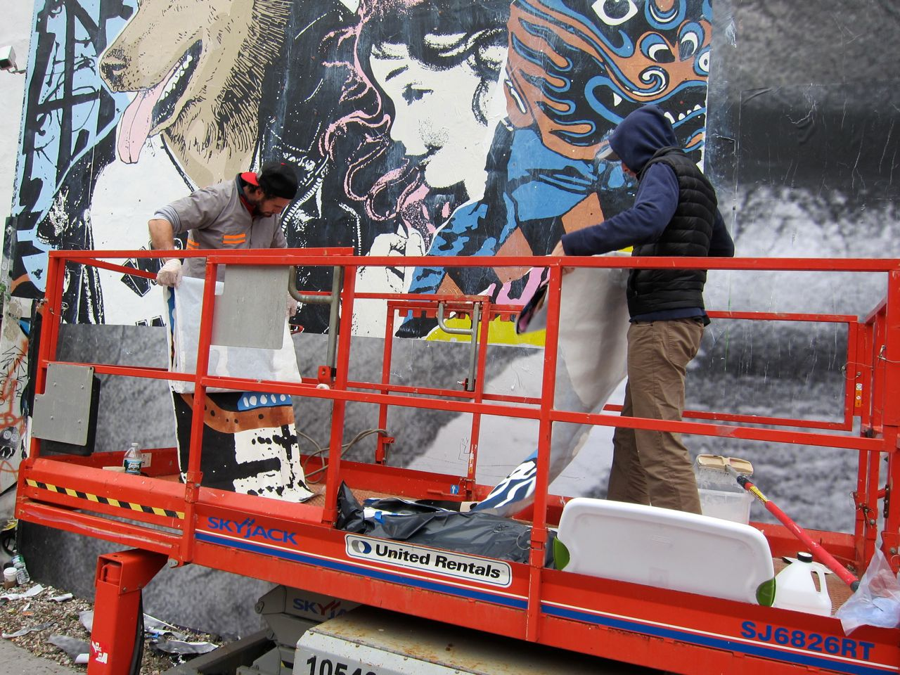 Faile Houston Bowery Goldman Mural 02