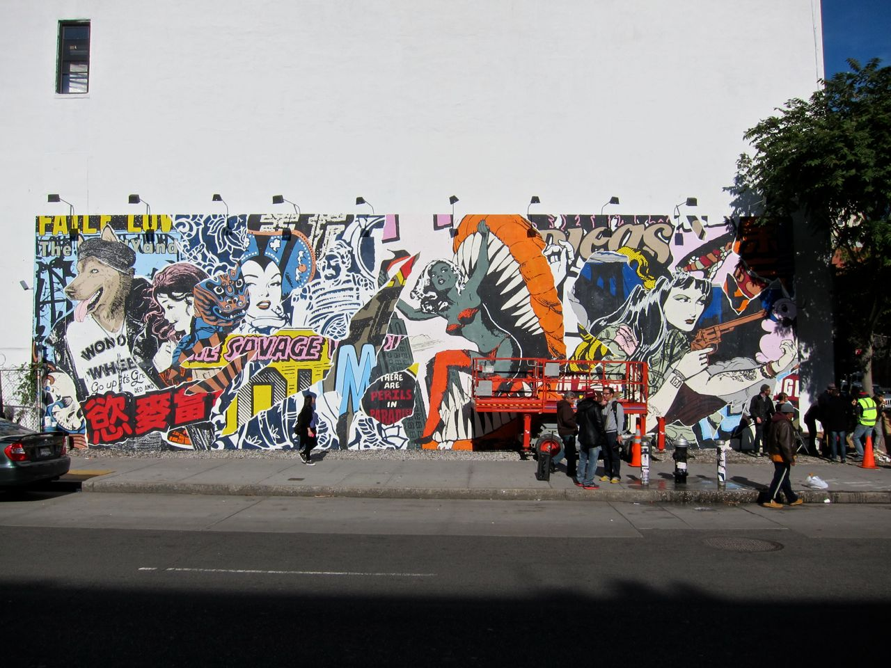 Faile Houston Bowery Goldman Mural 26