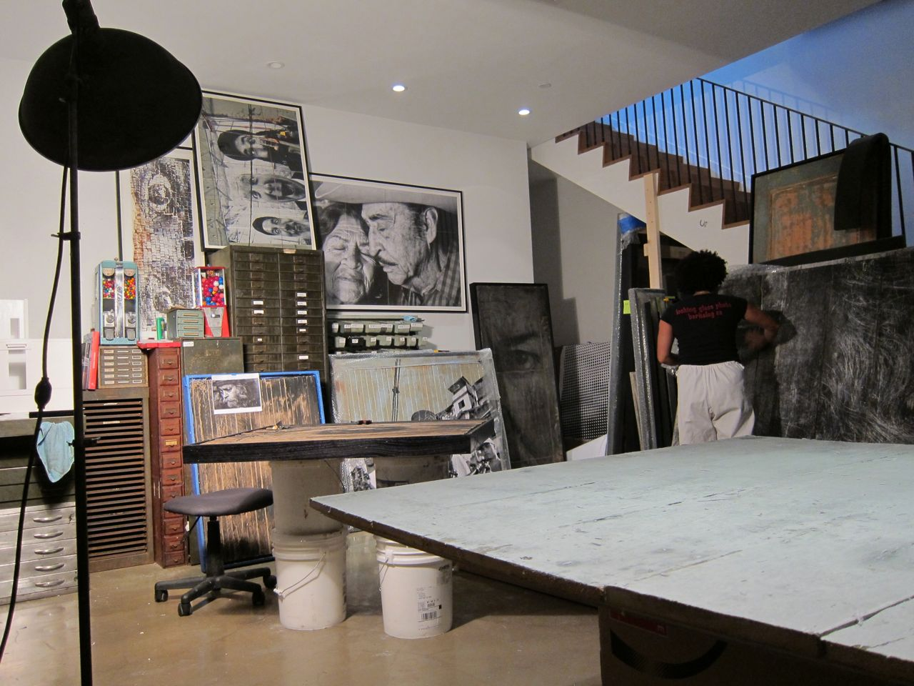 JR Perrotin Studio Visit encrages AM  1