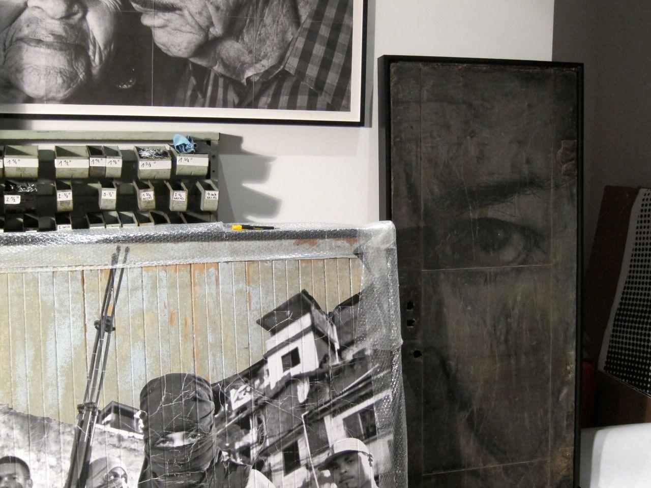 JR Perrotin Studio Visit encrages AM  4