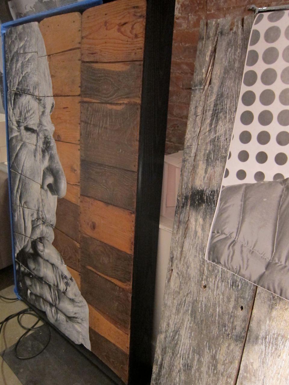 JR Perrotin Studio Visit encrages AM  7