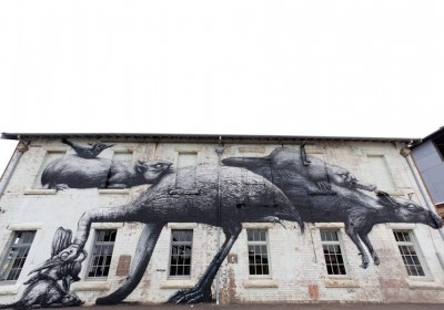 Roa in Australia. Photo Tristan Edouard via Streetartnews.net.