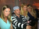 Paris & Nicki Hilton hangin with Andre Ljustina aka Croatian Style at our table...
