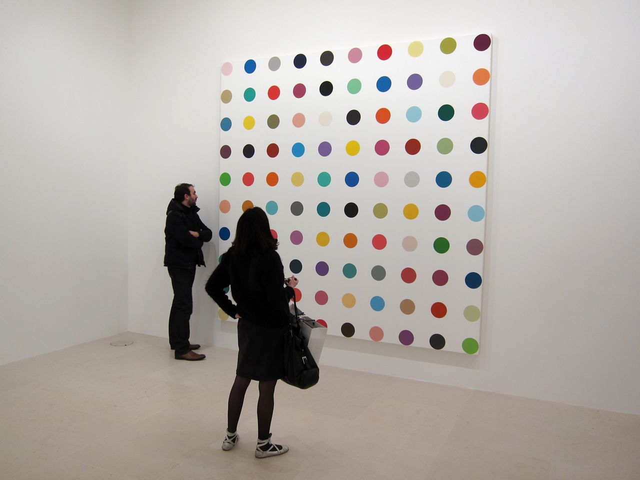 Openings Damien Hirst The Complete Spot Paintings 1986 2011 Gagosian Paris Arrested Motion