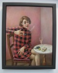 Sally Moore: 'Portrait of the Journalist Sylvia von Harden, Aftter Otto Dix. 2011. Oil on panel. Martin Tinney Gallery, Cardiff