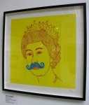 Damien Weighill: 'Queen (Yellow)'. 2011. 3-colour screenprint on Magnani paper. Edition of 125. Jealous Gallery, London