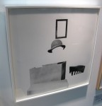John Baldessari: 'Box, Hat, Frame and Chair'. 2011. Archival inkjet print on Hot Press paper. Edition of 60. Whitechapel Gallery, London