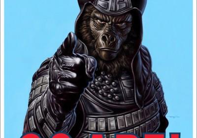 """Go Ape!"" poster painted by Jason Edmiston."