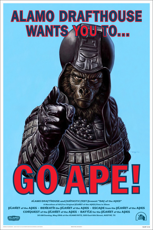 """Go Ape!"" poster painted by Jason Edmiston."