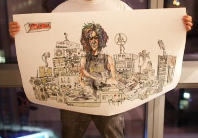 A gift painting form Choe to Howard Stern. Photo via Upper Playground.