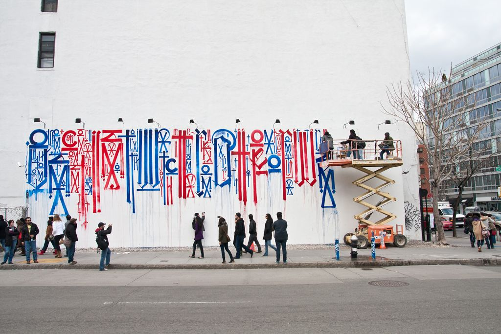 Streets retna mural on bowery houston part i for Bowery mural nyc