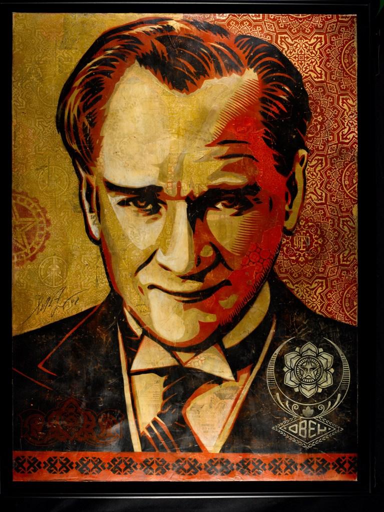 Shepard Fairey-Mustafa Kemal Ataturk-Canvas-152x112cm-year2008