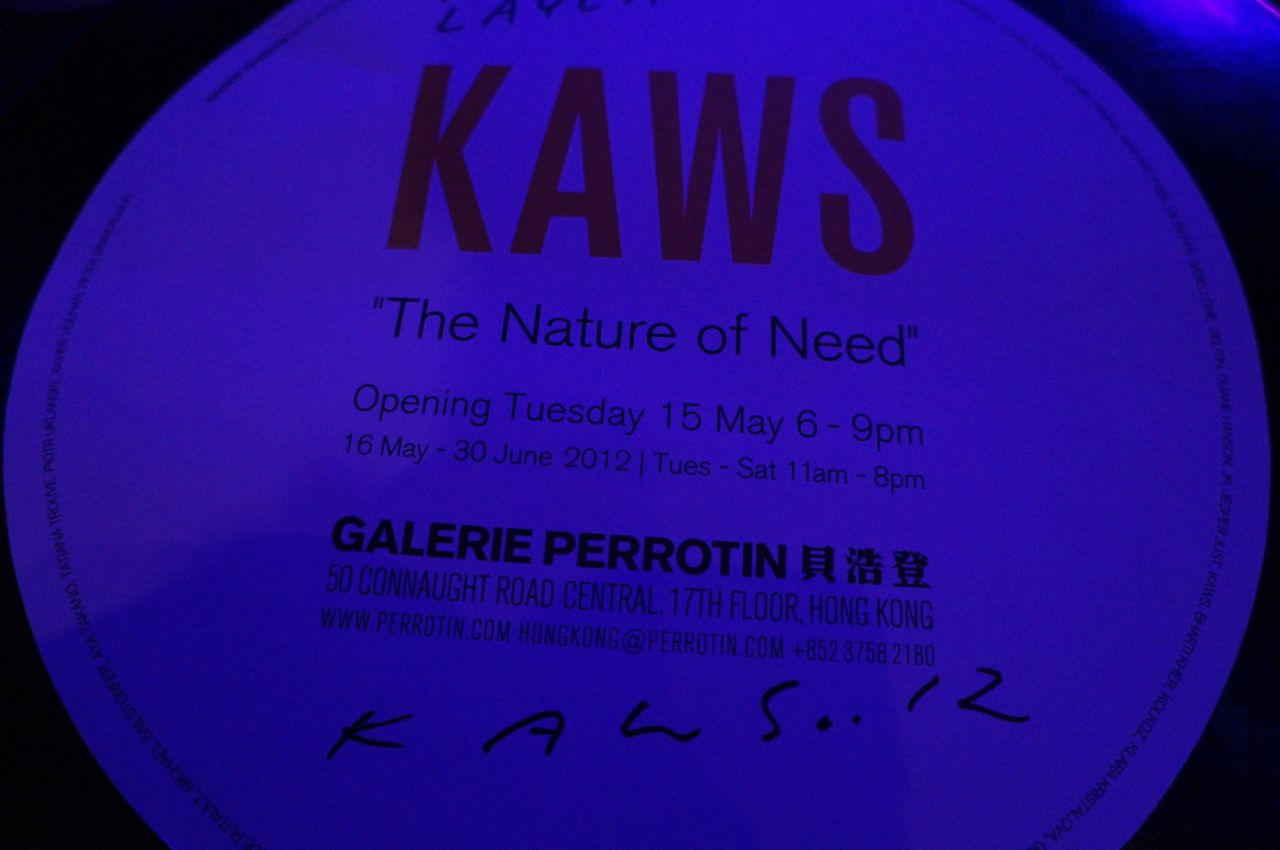 KAWS Perrotin HK Nature Need AM01