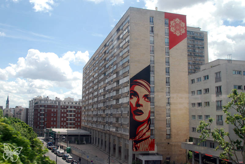 Obey mural from the metro