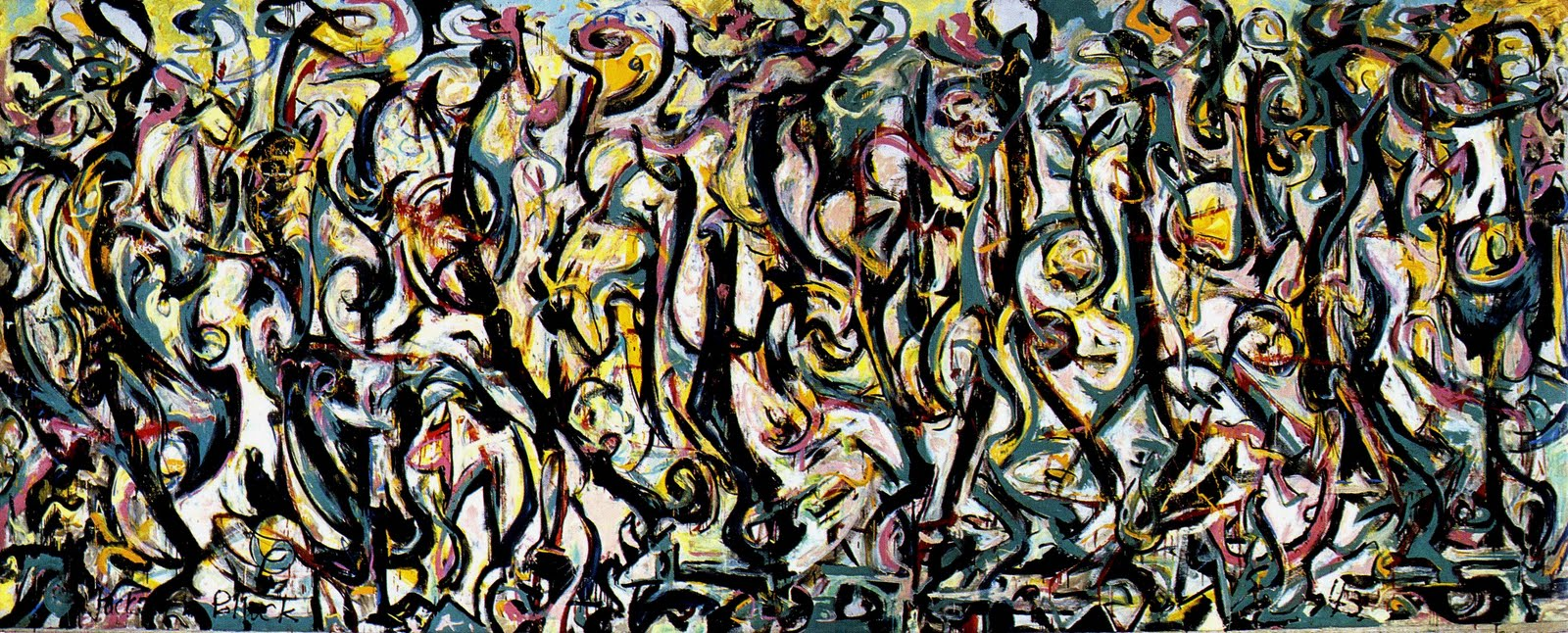 overtime june 25 july 1 arrested motion On mural 1943 by jackson pollock