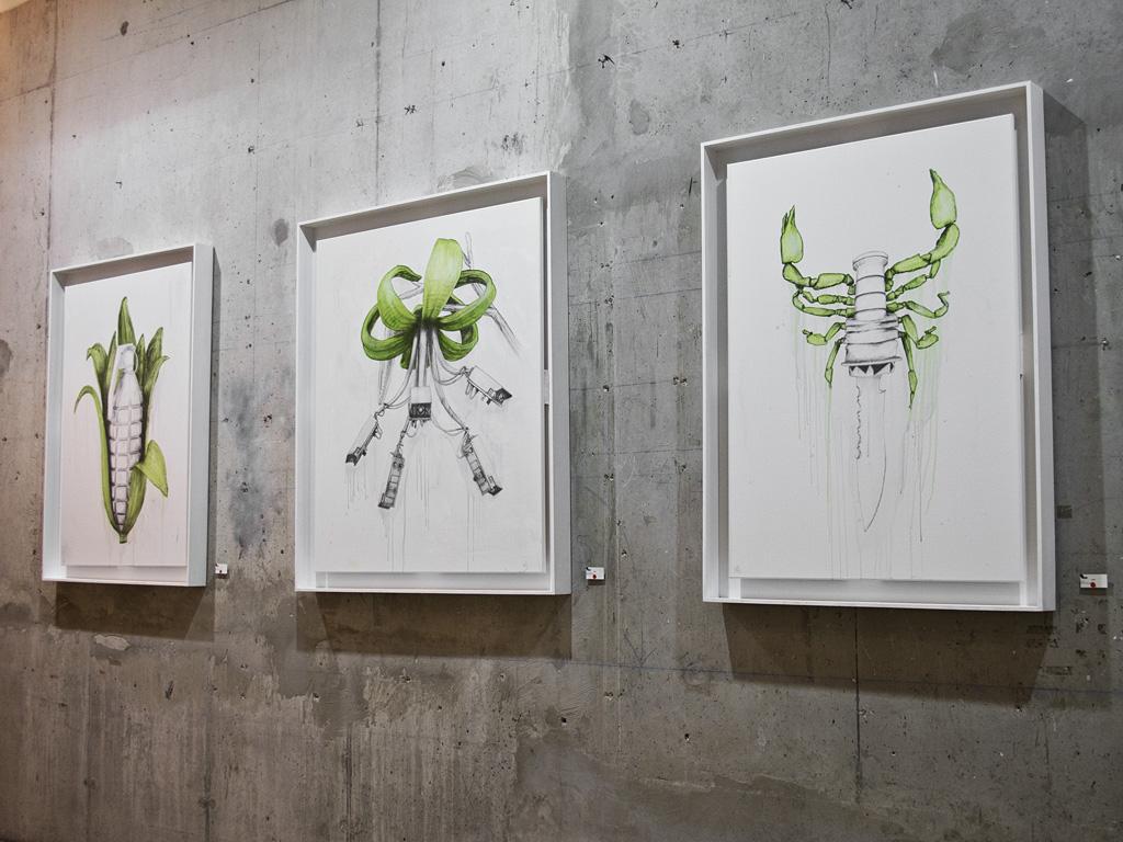 "April Calendar Pieces : Showing ludo ""metal militia galerie itinerrance"