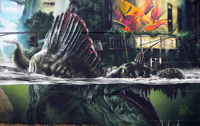 Streets Madc Jurassic Park Wall Germany 171 Arrested