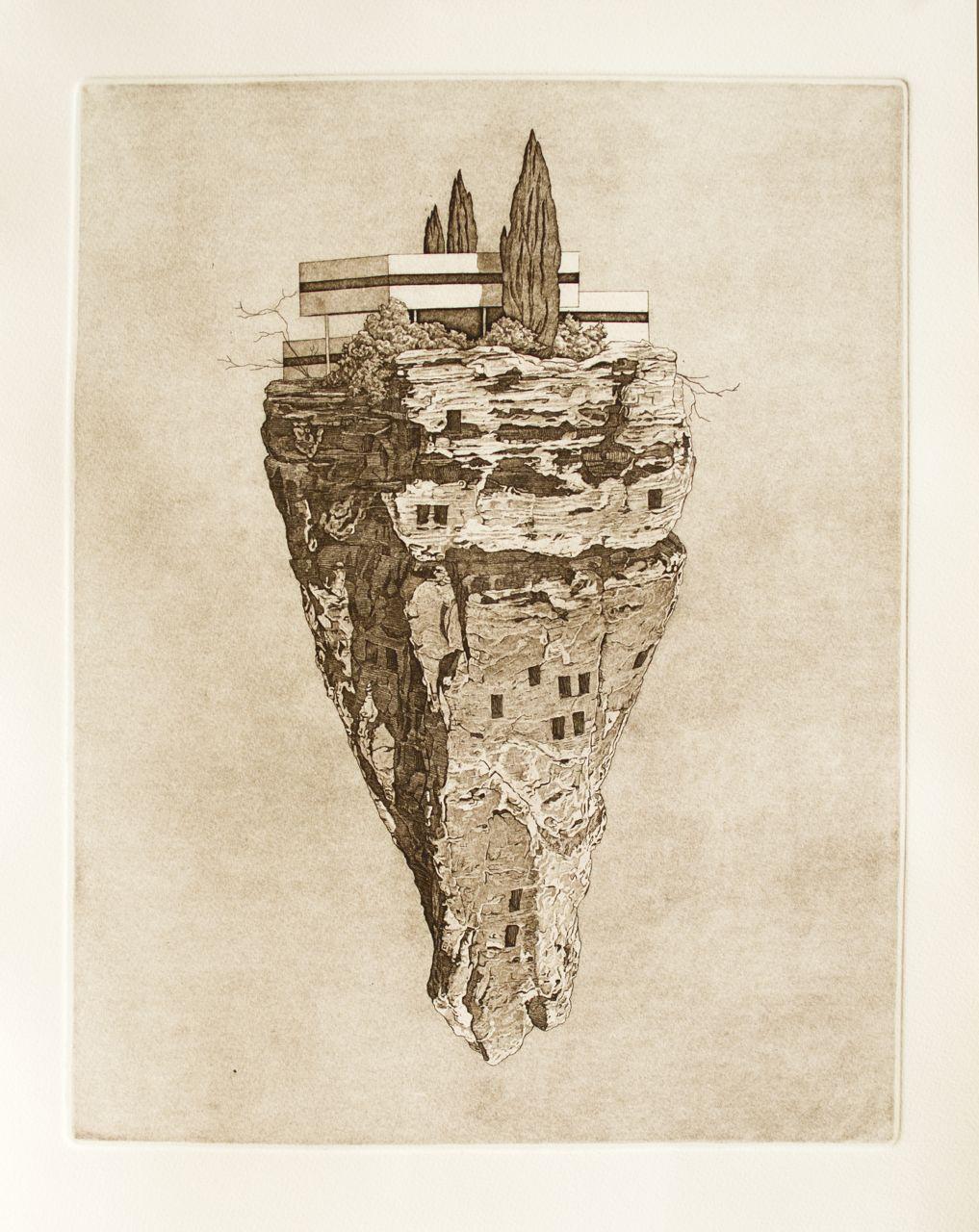 Precipice 14x18 inches 2012