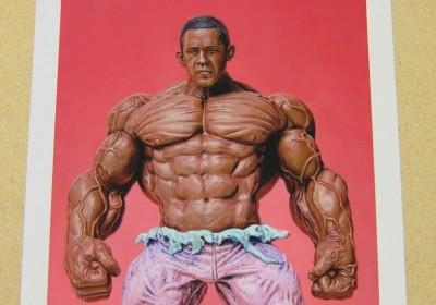 Ron English Barack Obama Hulk 1