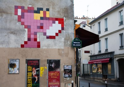 Space Invader @ Paris - La panthère rose