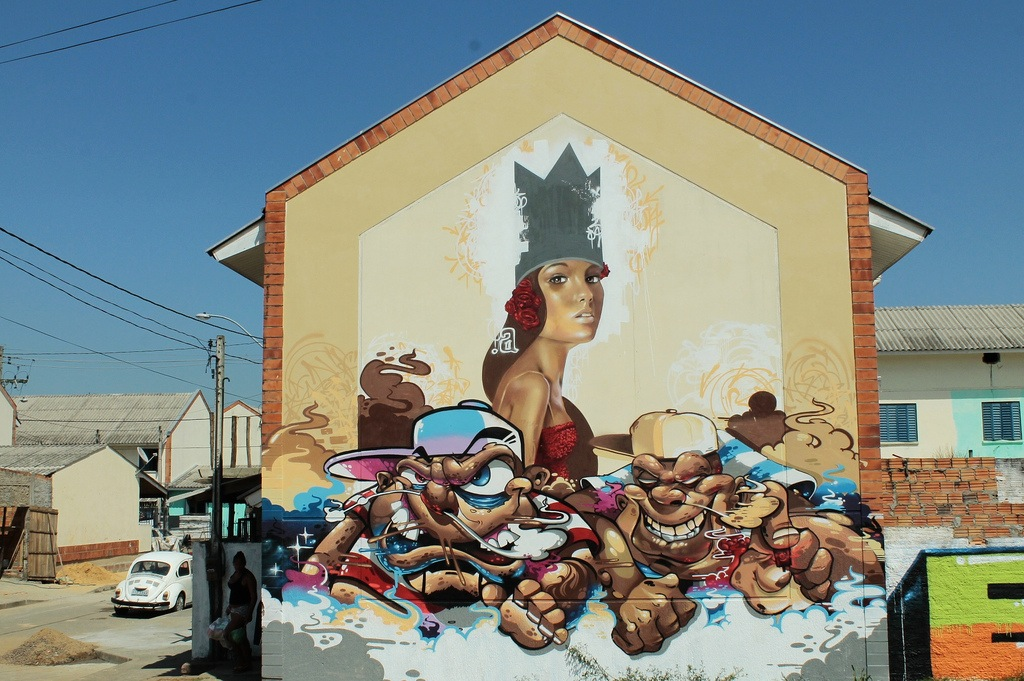 Mone x Bobi x Celo in Porto Alegre, Brazil.  Photo via Graffart.