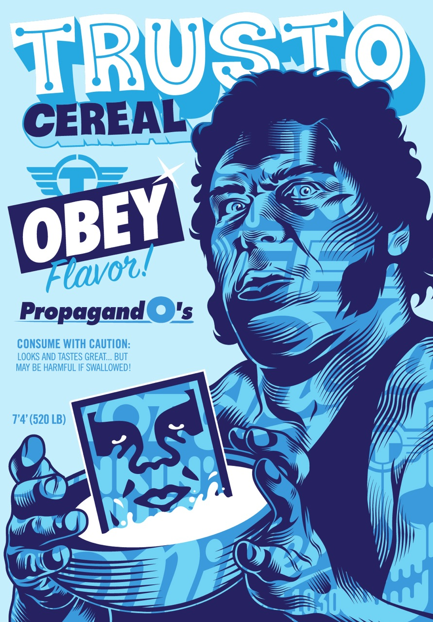 TrustoCorp Obey Fairey cereal AM 2