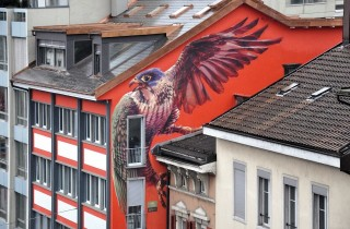 Wes21 in Biel Switzerland. Photo via Street Art Utopia.