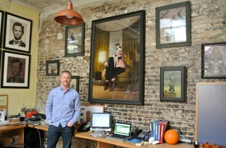 Morgan Spurlock at home with his collection - image courtesy Morgan Spurlock