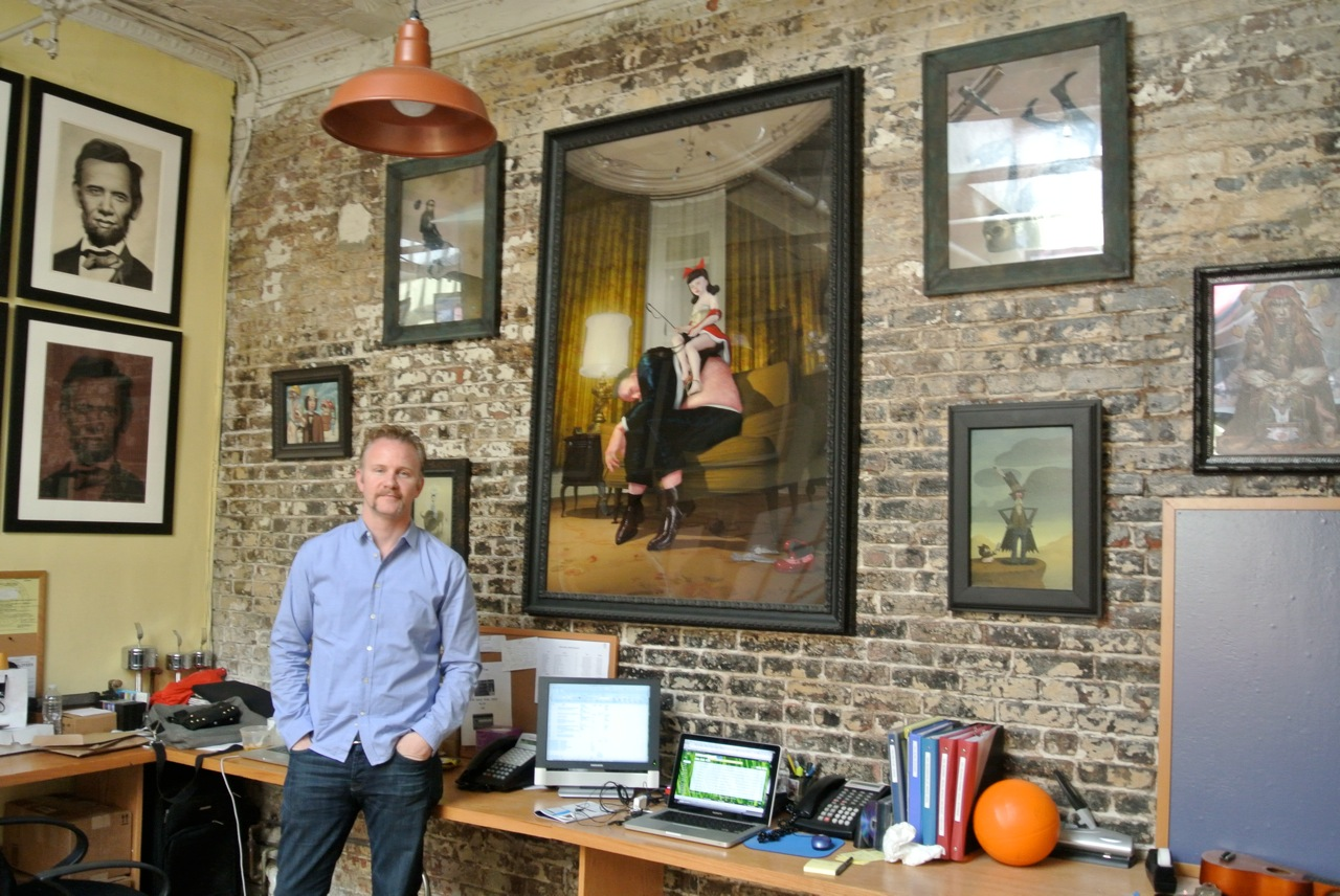 Morgan Spurlock at home with his collection - image courtesy Morgan Spurlock
