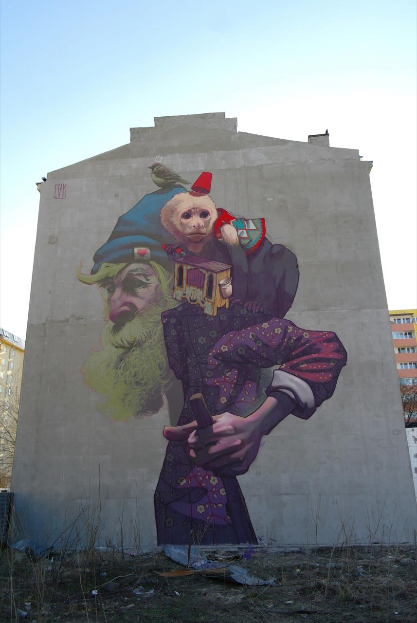 Etam Cru in Warsaw, Poland. Photo via Street Art Utopia.