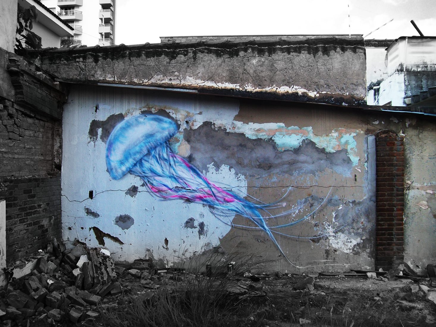 L7m in Brazil. Photo via Street Art Utopia.