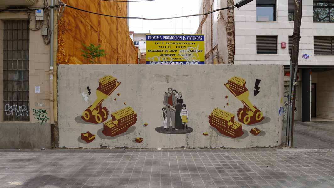 Escif and M-City collaboration in Valencia, Spain.
